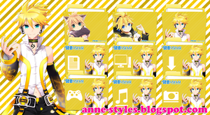 Pack Icons Kagamine Len by AnneChan34