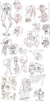 Sketch dump - mid-May by Granitoons