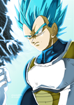 SUPER SAIYAN BLUE VEGETA by Sandra-delaIglesia