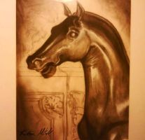 Bronze Horse sketch by Maridia99