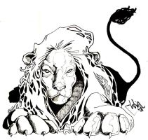 Pen and Ink Lion by WilsonWJr