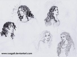 ASOIAF-more sketches by RuaGall