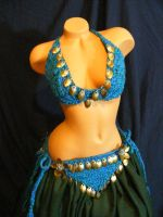 Carribean Blue with Brass scales by BacktoEarthCreations