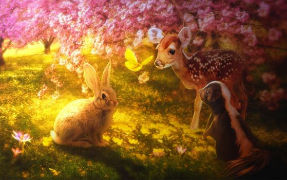 Bambi spring by MariLucia