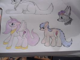 My pony charecters and a gift :D by Lockian