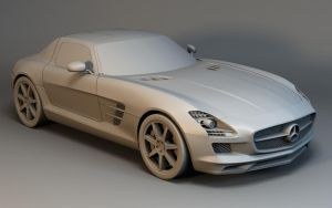 Mercedes SLS by Linolafett