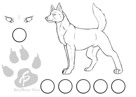 Free Ginga Dog Ref Sheet by Matrix-Ninja