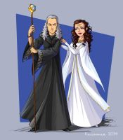 Raistlin and  Crysania 02 by kissyushka