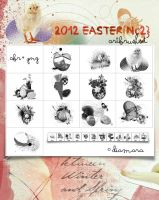 2012 Easter No2 ArtBrushSet by Diamara