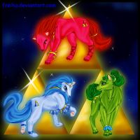 Wolves At The Sign Of Triforce by Freiha