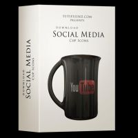 Social Media Icon Set - Coffee Cup Style by emperorwarion