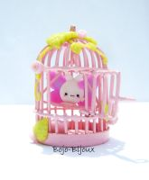 Kawaii Rabbitfly with cage by Bojo-Bijoux