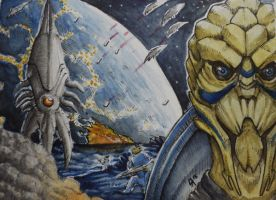 ACEO: Turians by Augala