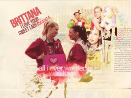 Brittana by weownedthenight