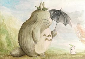 My friend Totoro by BlackInk-Studio