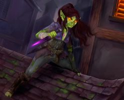 Shee'na goblin rogue by wood-illustration