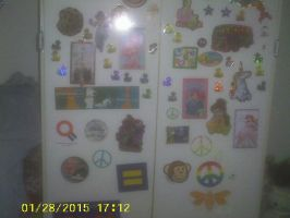 The stickers on my cabinet door by AnnieSmith