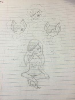 Aphmau thinking who to pick  by RachaelChanDraws