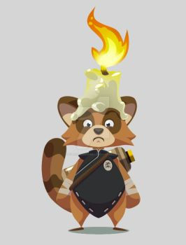 Tanoo with his candle hat by polarbeardgames