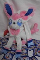 Custom Sylveon minky Plush by angelberries
