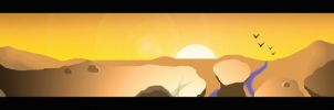 Desert at Sunset by SydeX