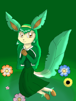 Petunia the Leafeon by KendraTheShinyEevee