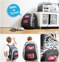 Zebra Backpack by Bobsmade