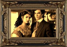 Katherine and Damon by scarletthorse