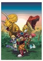 Dinosaur King pin-up by UltimateRubberFool