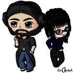 Chibi Troy and Layna by DragonLoreStudios