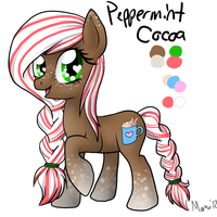 Peppermint Cocoa contest poniponi by Momo-butt