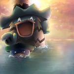 Ludicolo and Lotad by LilEspeon