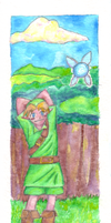 LoZ--Link and Navi--For Maia by Zalein