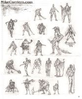 Small character thumbs by MIKECORRIERO