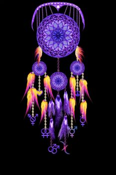 LGBT Dreamcatcher (blacklight) by surreal1st1cp1llow