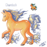 Pokemon fusion-Chardash by LuckyPaw