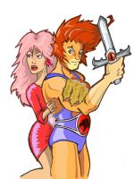 Jem and Lion-O by chillaxinjackson