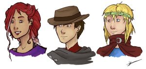 BFOI Character Sketches by TimeLadyVIII