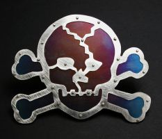 Skull and Cross Bones buckle by Vor4