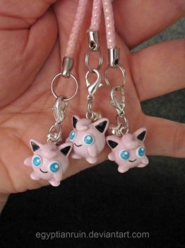 Jigglypuff Cell Straps by egyptianruin