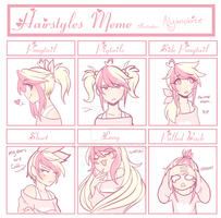 Hairstyles [meme] by Aishyu