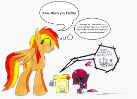 Fuchia brings Firefly a B'day present by AZ-Derped-Unicorn