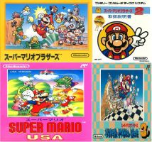 Super Mario Bros. Famicom Box Art Collage by MarioandSonic999
