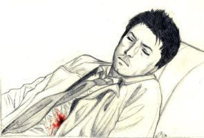 SPN : Wounded Castiel by floangel