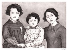 Three girls in 1930 by Ludimie