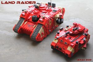 Space Marines Land Raider and Predator by Scharnvirk