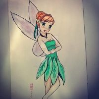 Anna cosplayed on Tinker Bell by chifunaruchibi