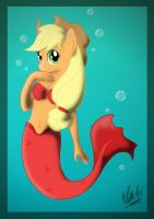 :PC: Underwater Applejack by Rasaliina