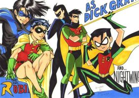 Various Dick Grayson by SamuraiHimenoji