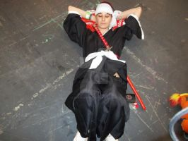 renji abarai cosplay sleeping by DanteJackpot